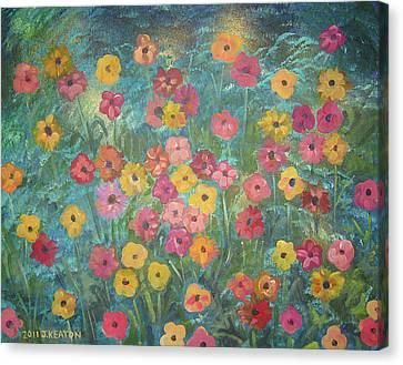 A Field Of Flowers Canvas Print by John Keaton