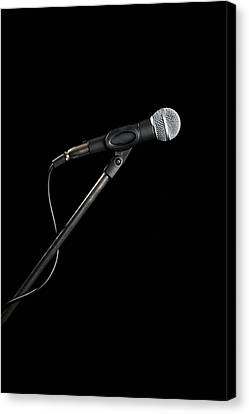 A Microphone Canvas Print