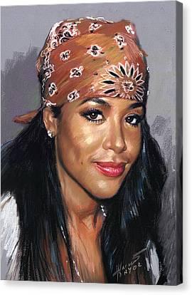Dana Canvas Print - Aaliyah Dana Haughton by Ylli Haruni