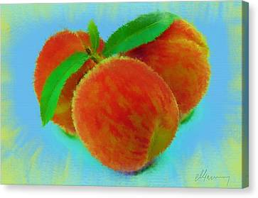 Abstract Fruit Painting Canvas Print by Michael Greenaway