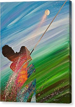 Abstract Golf Canvas Print by Douglas Fincham
