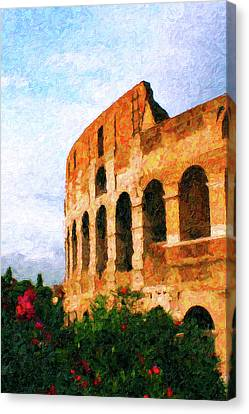 Afternoon In Rome Canvas Print