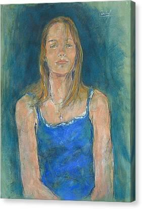 Canvas Print featuring the painting Anastasia by Debora Cardaci