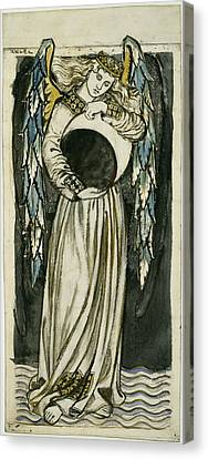 Angel Holding A Waning Moon Canvas Print