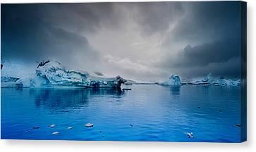 Antarctic Iceberg Canvas Print by Michael Leggero