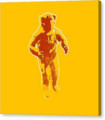 Astronaut Graphic Canvas Print by Pixel Chimp