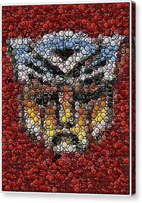 Autobot Transformer Bottle Cap Mosaic Canvas Print