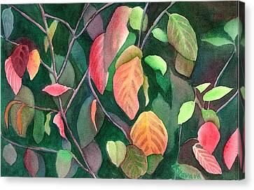 Autumn Leaves Canvas Print by Anne Havard