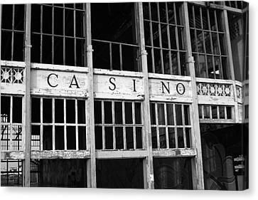 Asbury Park Casino Canvas Print - Back In The Day by Jeff Bord