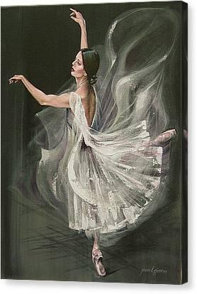 Baile Blanca Canvas Print by Joan Garcia