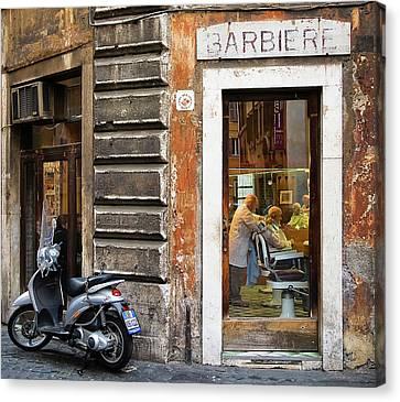 Barbiere Canvas Print