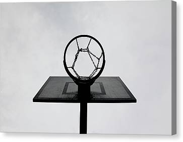 Basketball Hoop Canvas Print by Christoph Hetzmannseder