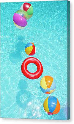 Beachballs Canvas Print by Alex Bramwell
