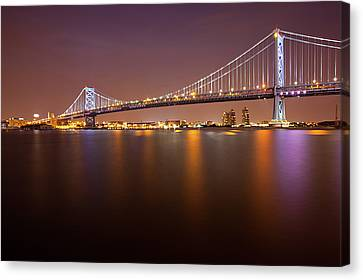 Ben Franklin Bridge Canvas Print by Richard Williams Photography