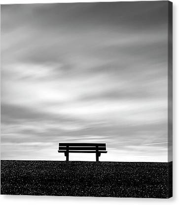 Bench, Long Exposure Canvas Print by Kees Smans