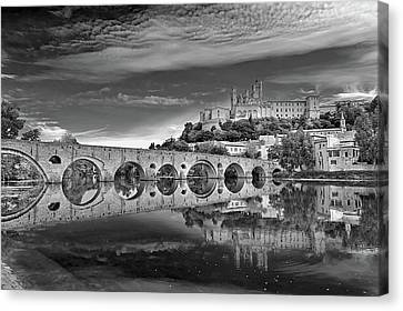 Beziers Cathedral Canvas Print by Photograph by Paul Atkinson