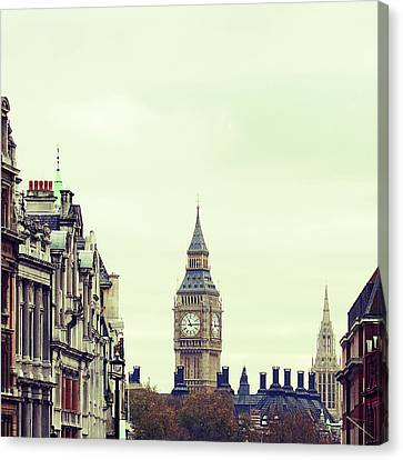 Big Ben As Seen From Trafalgar Square, London Canvas Print by Image - Natasha Maiolo