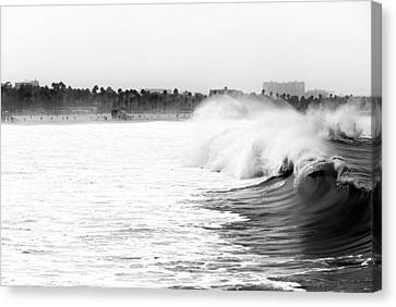 Big Surf At Santa Monica Canvas Print