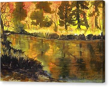 Bishop Creek Autumn Canvas Print by Pat Crowther