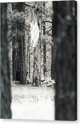 Canvas Print featuring the photograph Black Bear Pledge  by Juls Adams