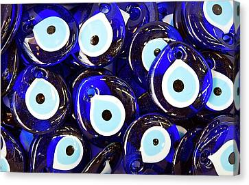 Blue Turkish Evil Eyes Canvas Print