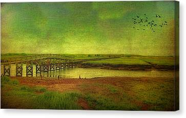Boardwalk On Cape Cod Canvas Print by Gina Cormier
