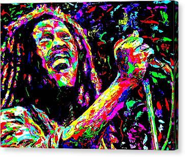 Bob Marley Canvas Print by Mike OBrien
