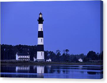 Keeper Canvas Print - Bodie Island Lighthouse At Dusk - Fs000607 by Daniel Dempster