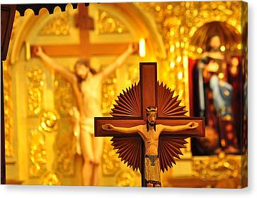 Body Of Christ Canvas Print by Peter  McIntosh