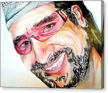 Bono In Colour Canvas Print