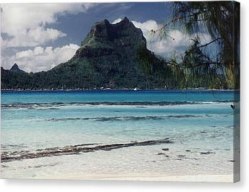 Canvas Print featuring the photograph Bora Bora by Mary-Lee Sanders