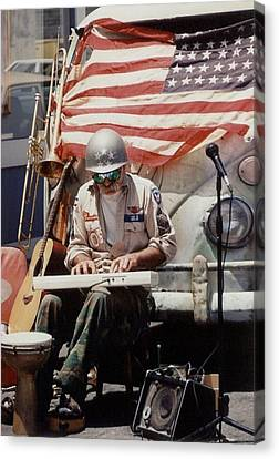 Canvas Print featuring the photograph Born In The Usa by Mary-Lee Sanders