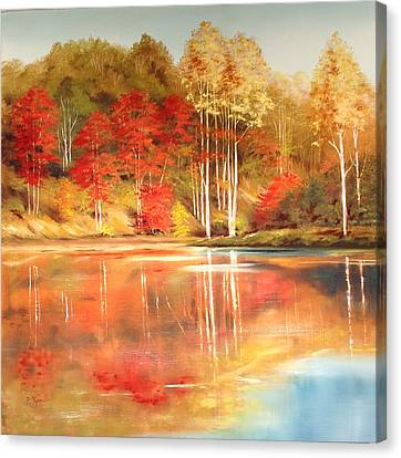 Brook's Pond Canvas Print by Diana  Tyson
