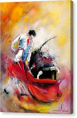 Bullfight 73 Canvas Print by Miki De Goodaboom