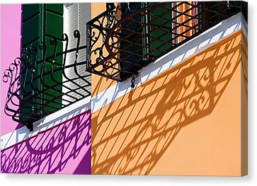Burano Houses Canvas Print by Stefan Nielsen