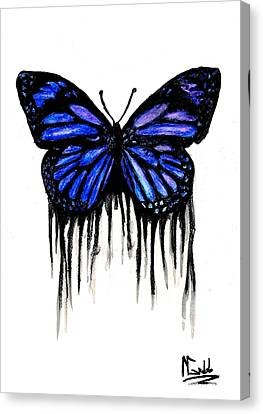 Butterfly Tears Canvas Print by Michael Grubb