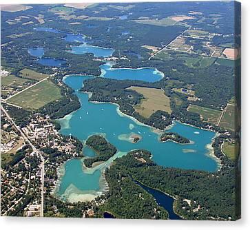 C-022 Chain-o-lakes Summer Waupaca Wisconsin Canvas Print