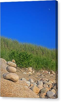 Cairn Dunes And Moon Canvas Print by Todd Breitling