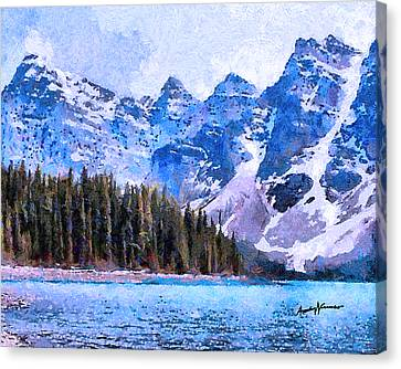 Canadian Rocky Mountain Scene Canvas Print by Anthony Caruso