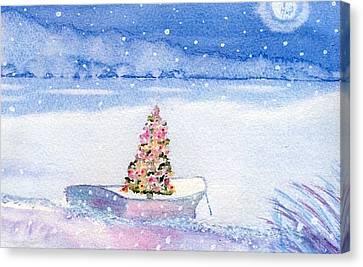 Cape Cod Christmas Tree Canvas Print by Joseph Gallant