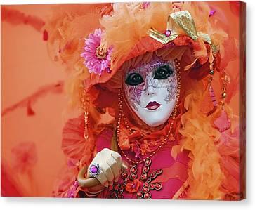 Carnival In Orange Canvas Print