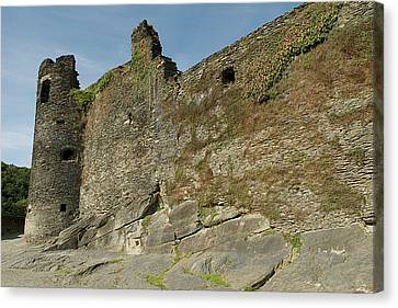 Canvas Print featuring the photograph Castle - Ardennes - Belgium by Urft Valley Art