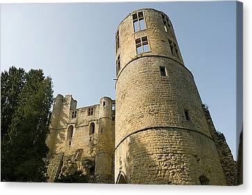 Canvas Print featuring the photograph Castle - Ardennes - Luxembourg by Urft Valley Art