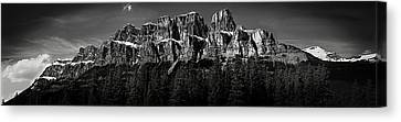 Castle Mountain Panoramic Canvas Print