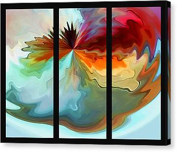 Center Piece 'triptych' Canvas Print by Terril Heilman