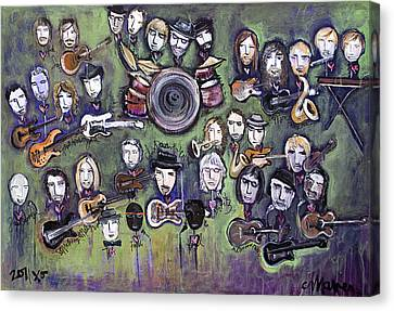 Chris Daniels And Friends Canvas Print by Laurie Maves ART