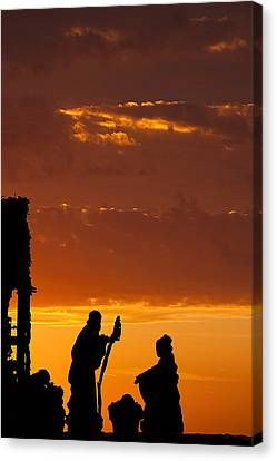 Nativity Canvas Print - Christmas Morning by Andrew Soundarajan