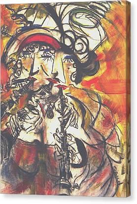 Clarenet Canvas Print by David Grudniski