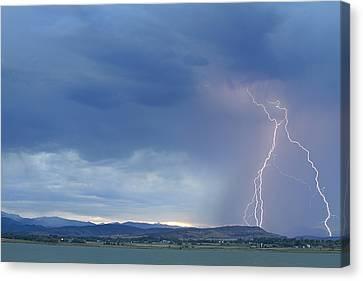 Colorado Rocky Mountains Foothills Lightning Strikes Canvas Print