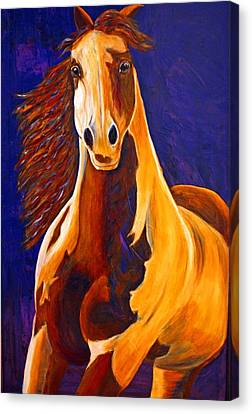 Canvas Print featuring the painting Contemporary Horse Painting Painted Sensation by Jennifer Godshalk